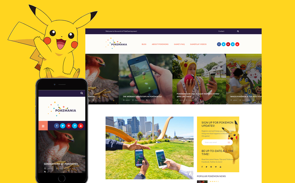 Pokemania (WordPress theme for gaming sites) Item Picture