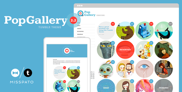 Pop Gallery Tumblr Theme (Tumblr theme) Item Picture
