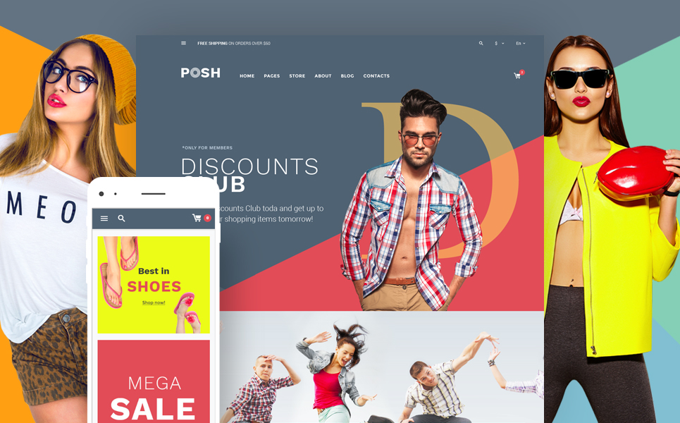 Posh (WordPress theme for clothing or fashion stores) Item Picture