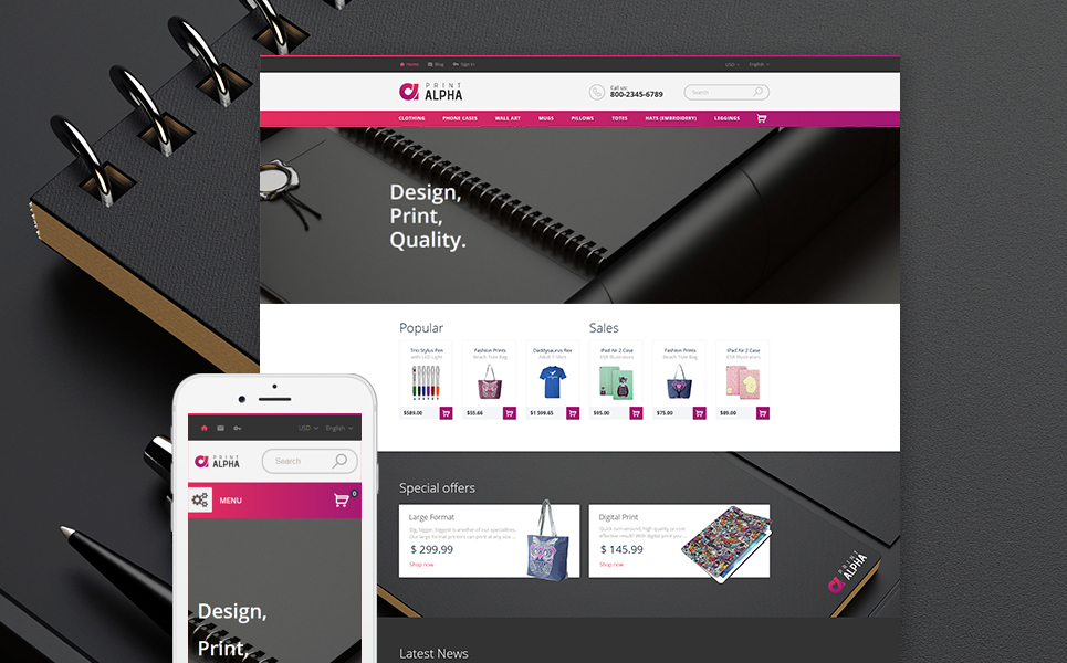 PrintAlpha (PrestaShop theme) Item Picture