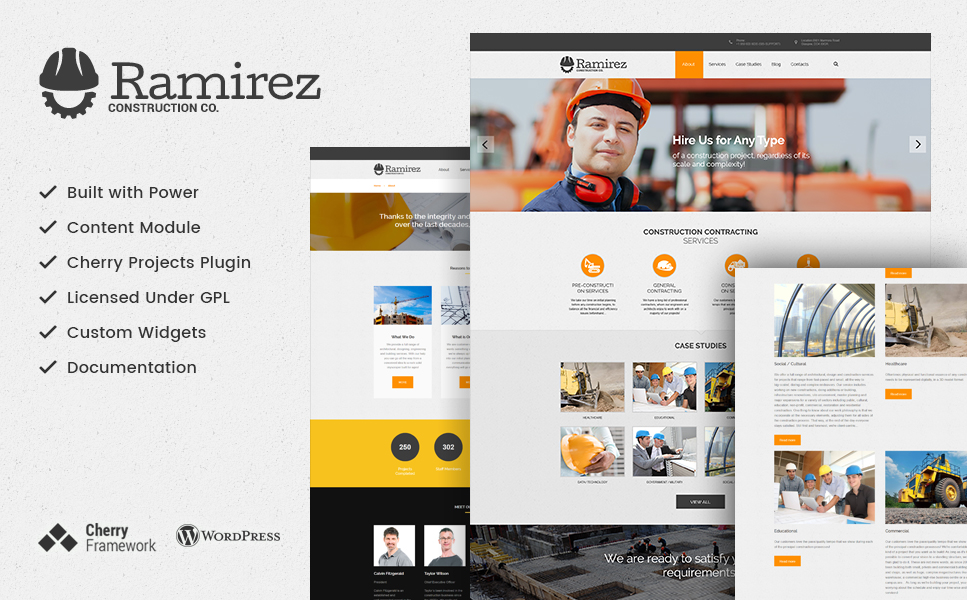 Ramirez (WordPress theme for the construction industry) Item Picture
