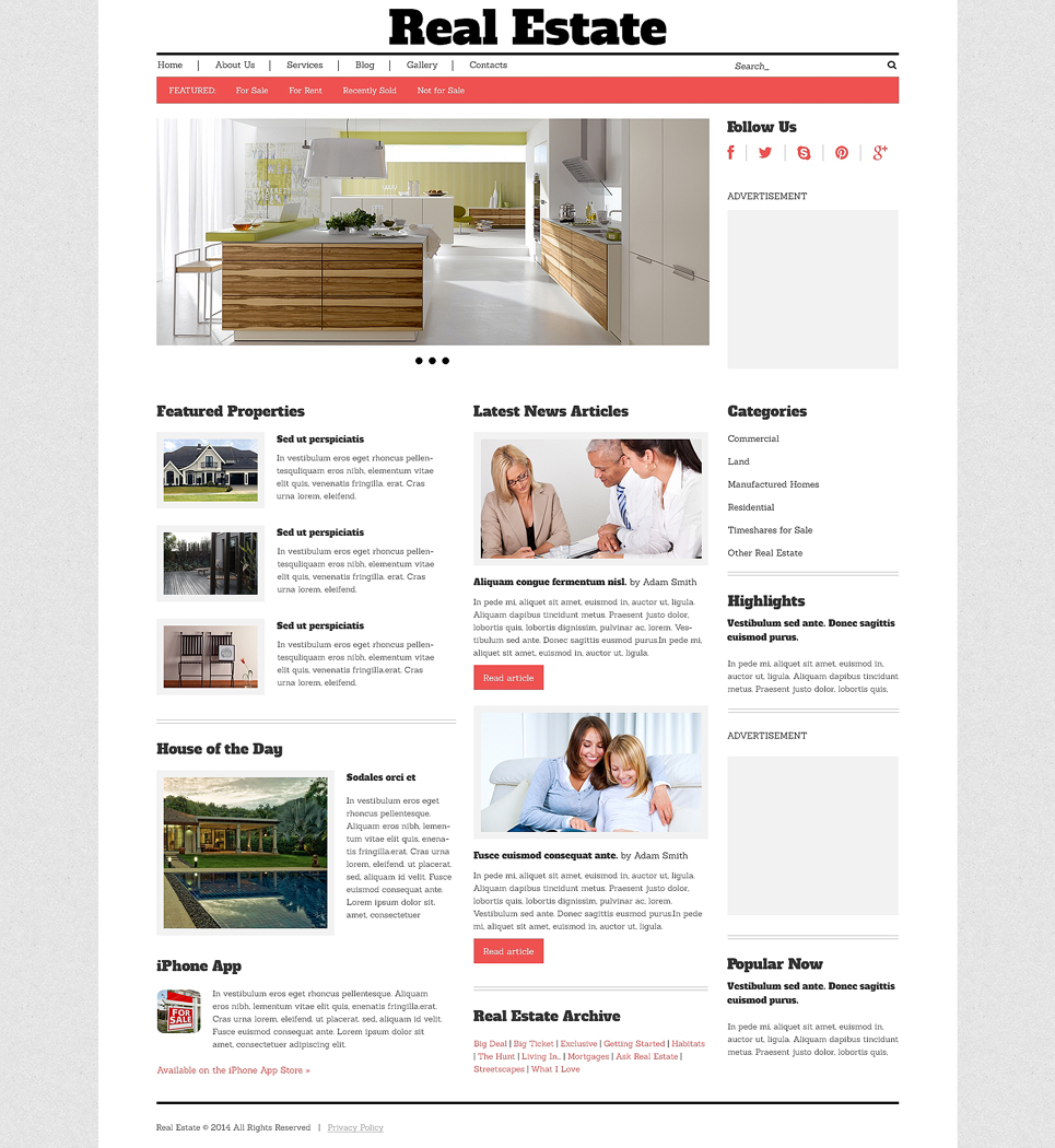 Real Estate Agency Responsive WordPress Theme (WordPress theme for realtors and real estate agents) Item Picture
