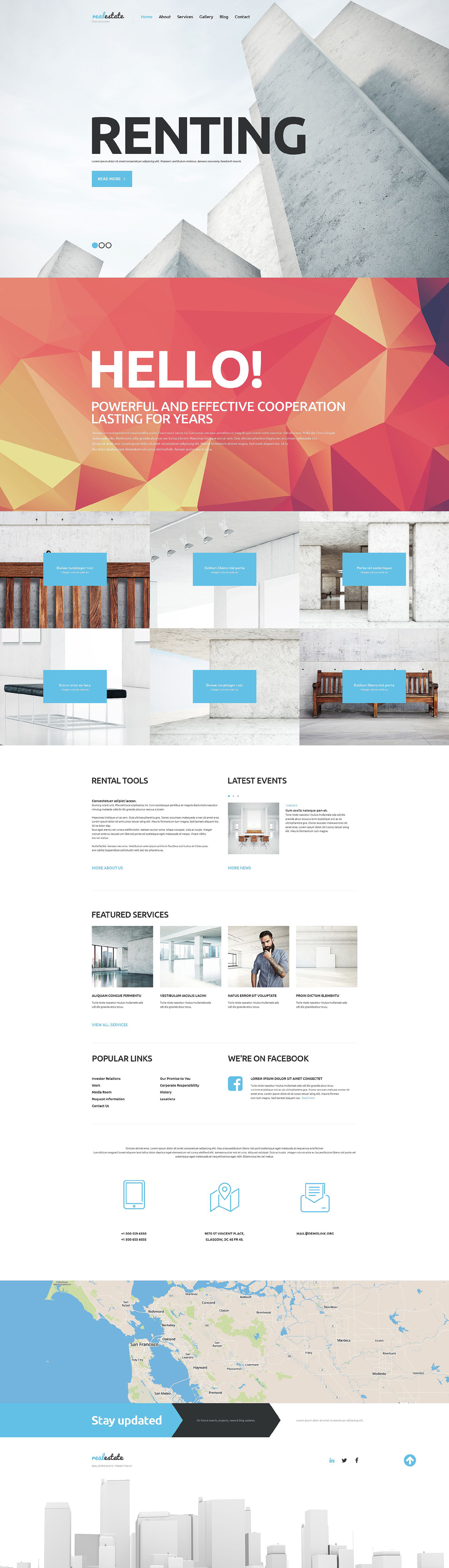 Real Estate Agency WordPress Theme (WordPress theme for realtors and real estate agents) Item Picture