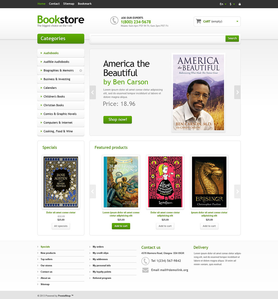 Responsive Books Store (PrestaShop theme) Item Picture