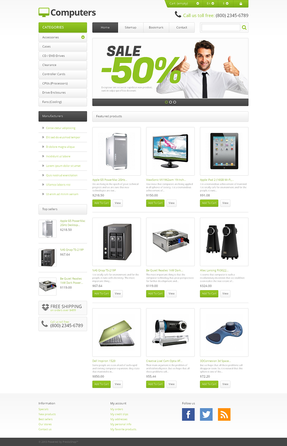 Responsive Computers Store (template for PrestaShop) Item Picture