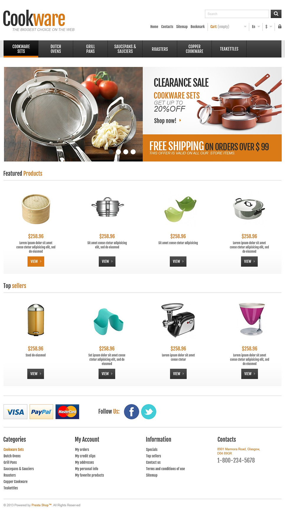 Responsive Cookware Shop (template for PrestaShop) Item Picture