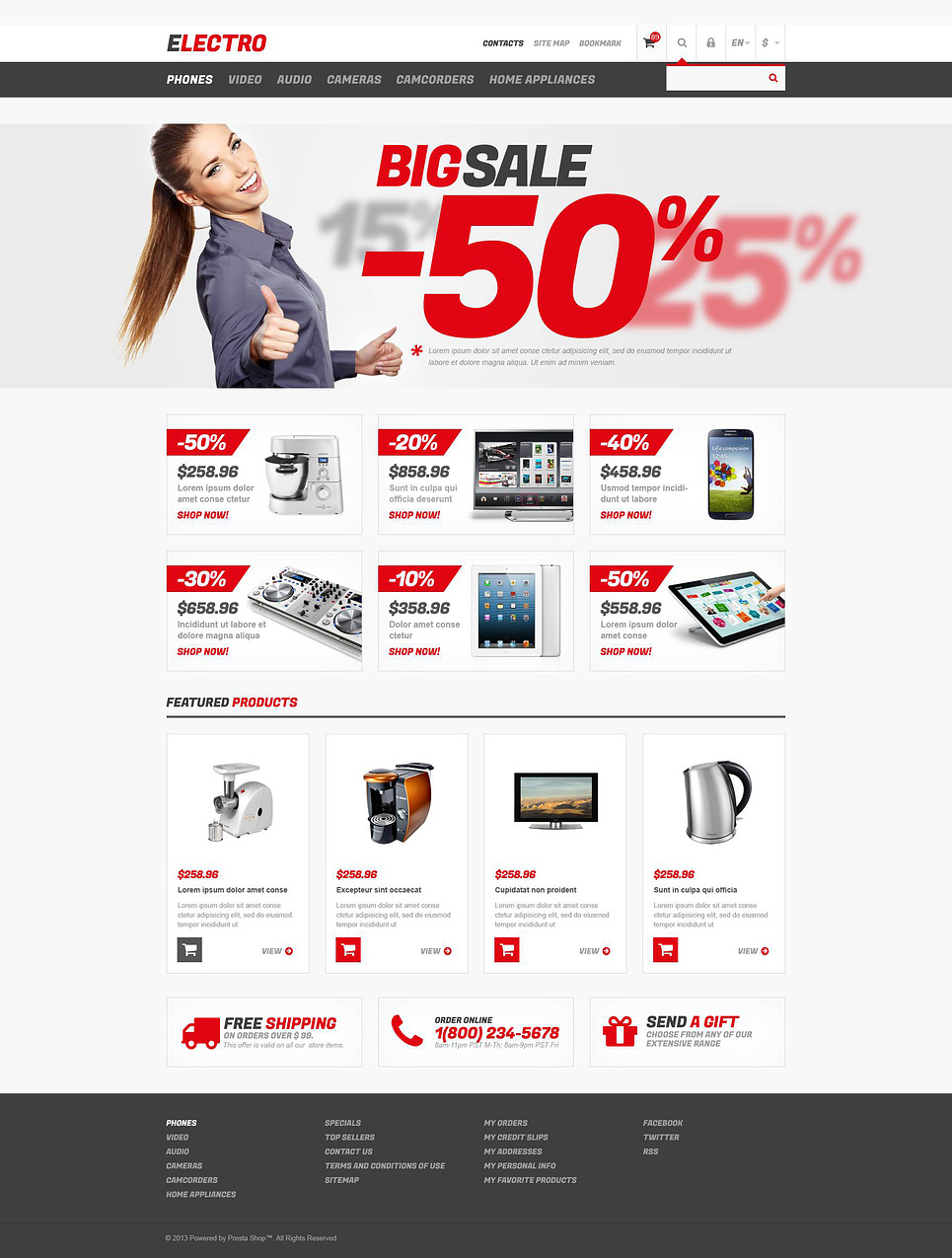 Responsive Electro Store (theme for PrestaShop) Item Picture
