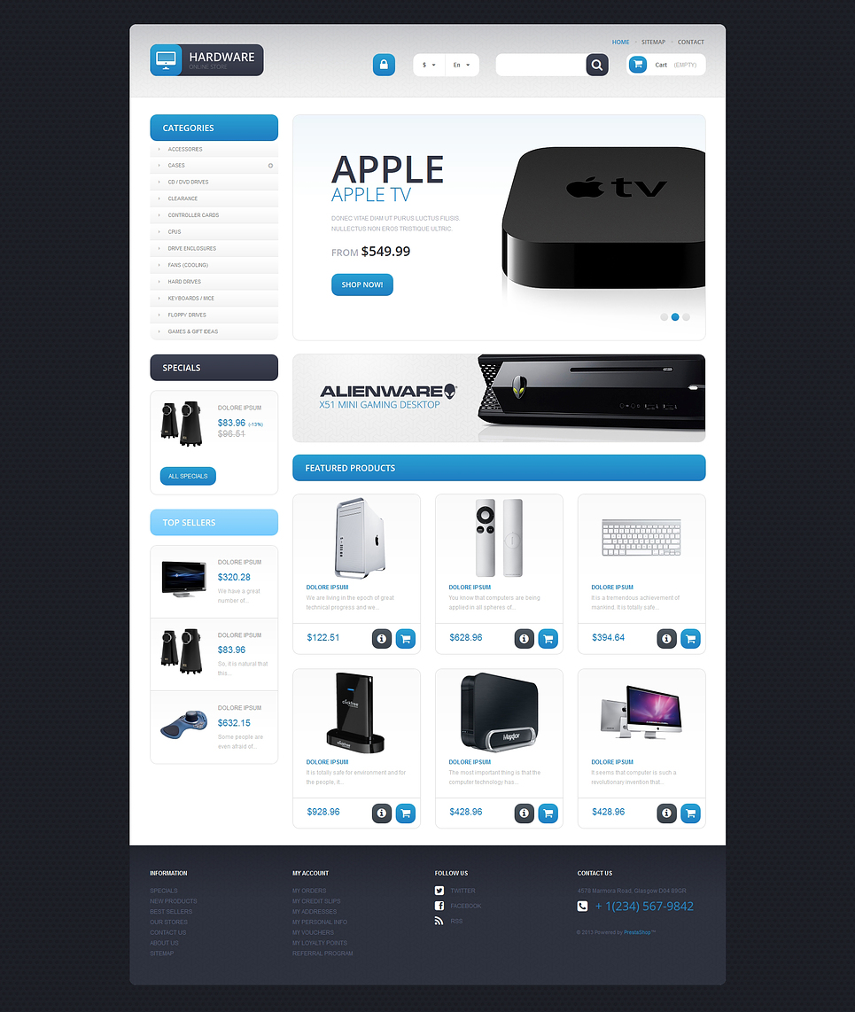 Responsive Hardware Store (template for PrestaShop) Item Picture