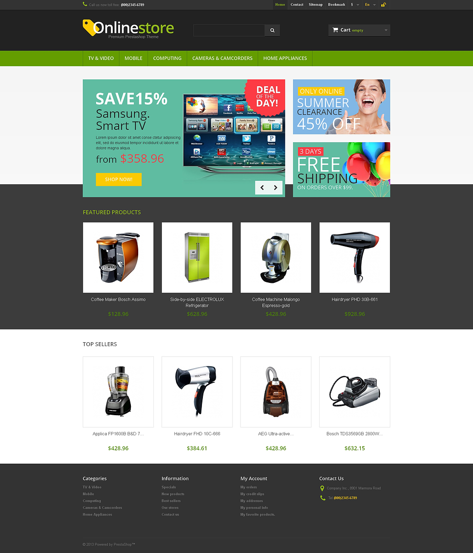 Responsive Online Store (theme for PrestaShop) Item Picture