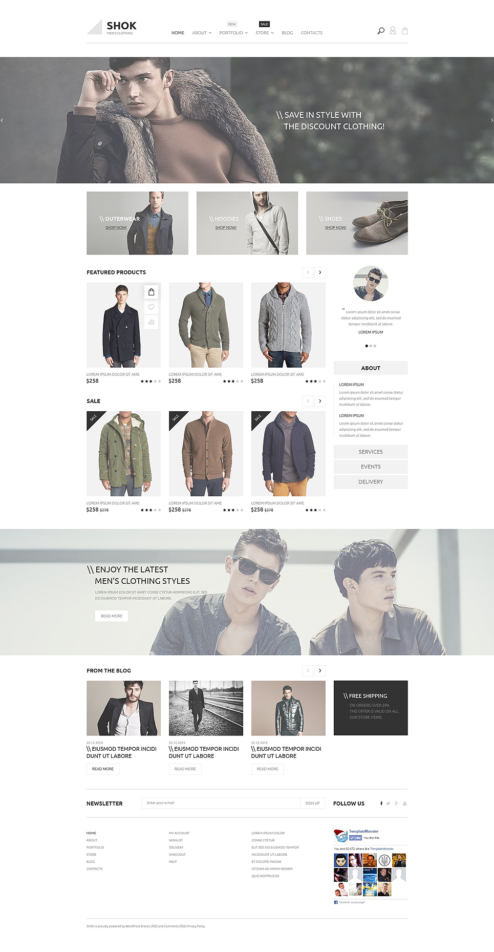 Shok WooCommerce Theme (WordPress theme for clothing or fashion stores) Item Picture