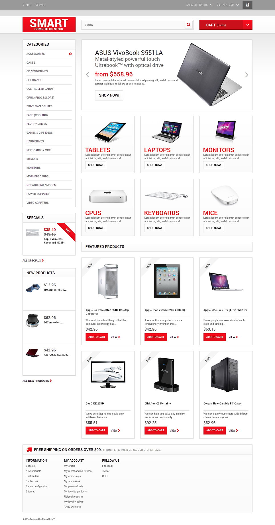 Smart Computers Store (template for PrestaShop) Item Picture