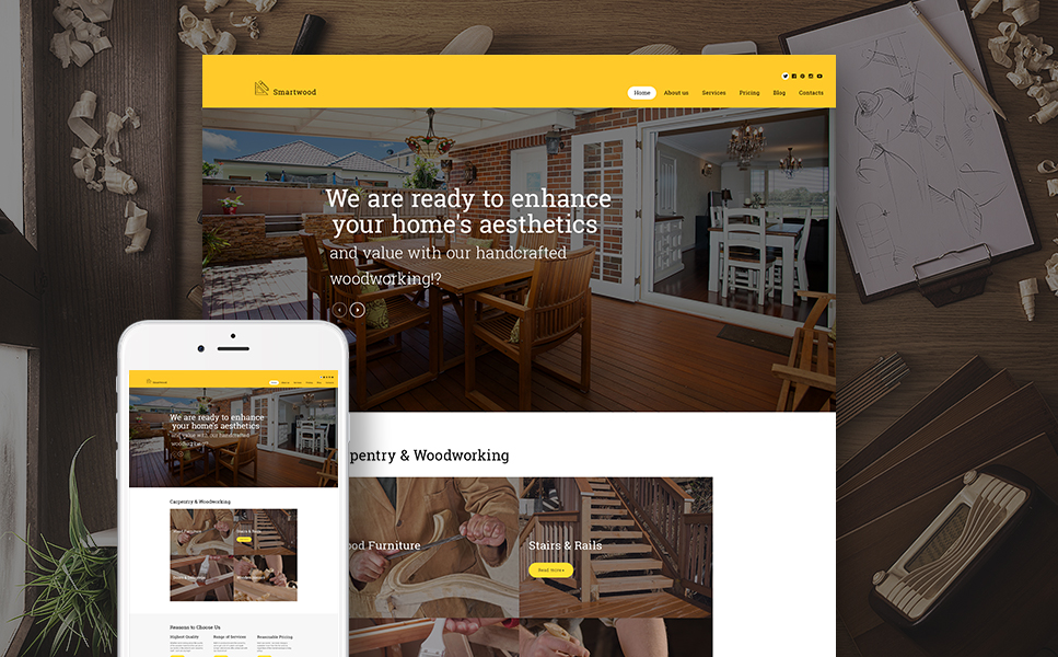 Smartwood (handyman WordPress theme) Item Picture