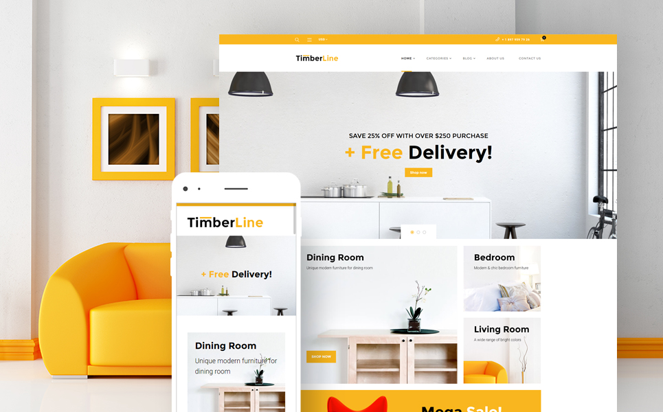 Timberline (WordPress theme for furniture stores) Item Picture
