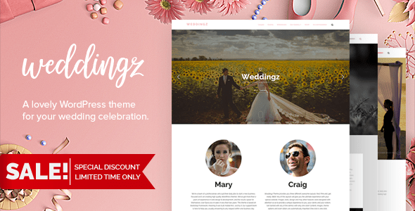 Weddingz (free wedding invitation WordPress theme) Item Picture