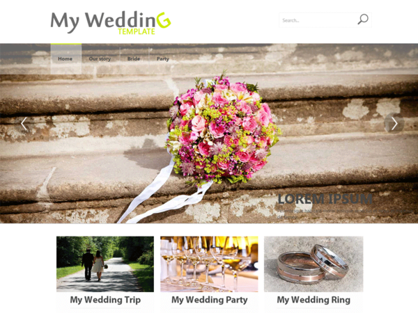 My Wedding (free wedding invitation WordPress theme) Item Picture