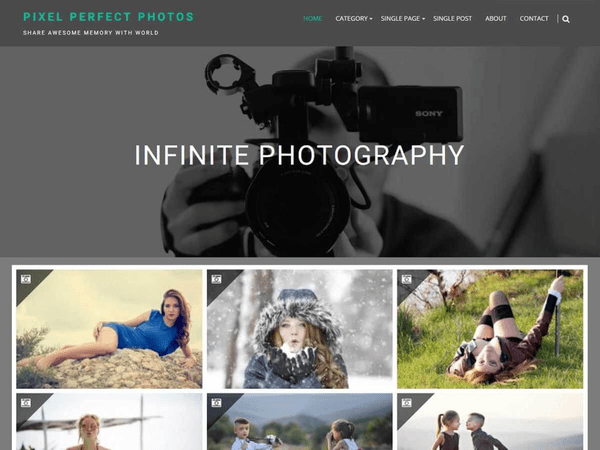 Infinite Photography (dark WordPress theme for photography and photographers) Item Picture