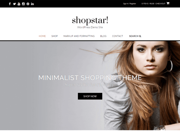 Shop Star (WordPress theme for clothing or fashion stores) Item Picture
