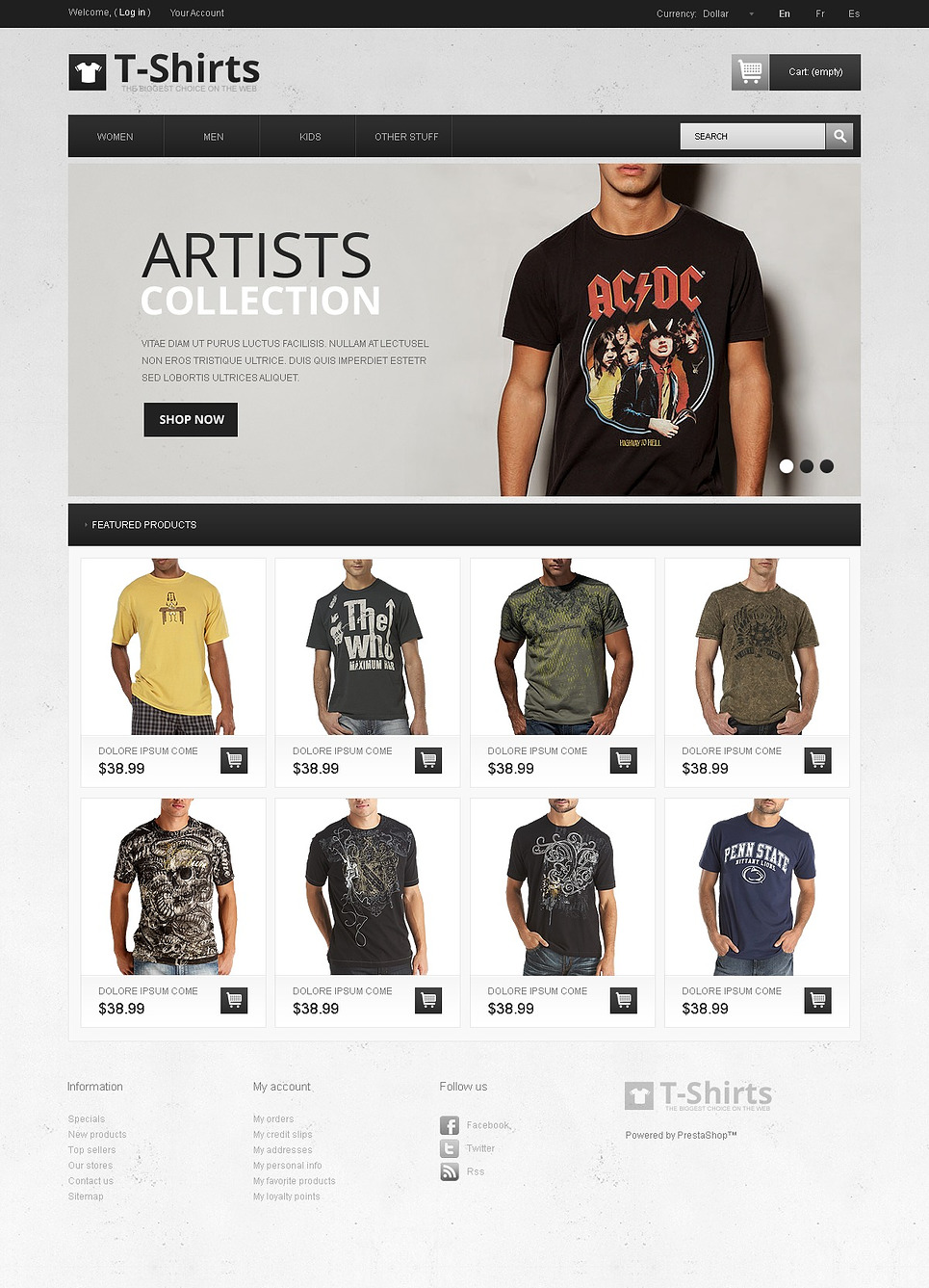 Artistic T-Shirts (theme for PrestaShop) Item Picture