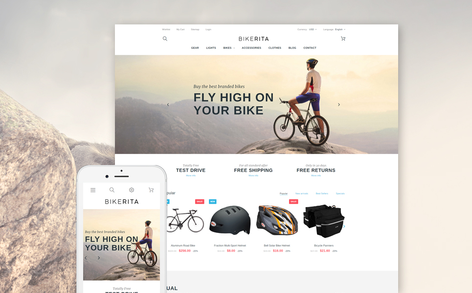 Bikerita (ecommerce template for PrestaShop ) Item Picture