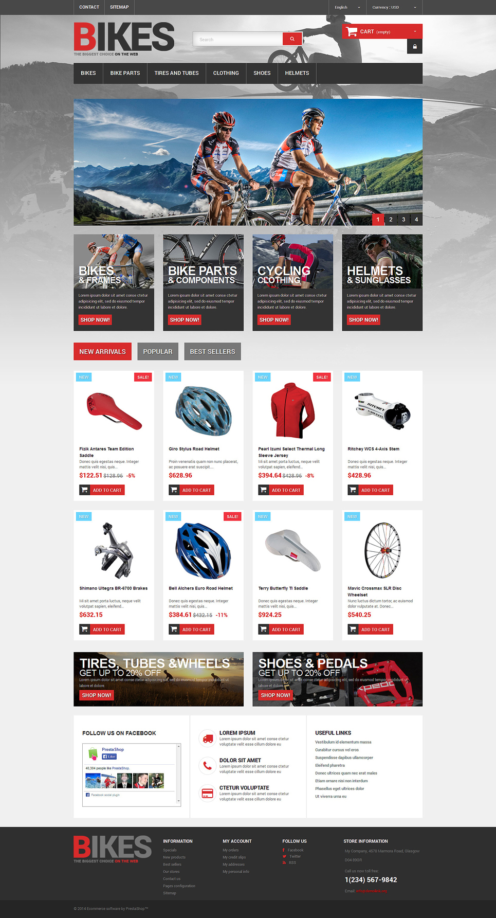 Bikes Store (ecommerce template for PrestaShop ) Item Picture