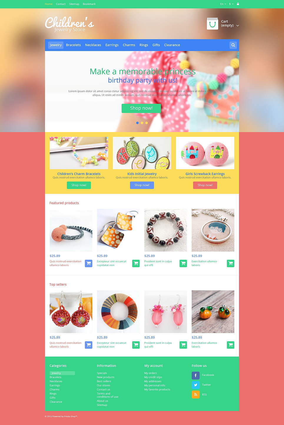 Childrens Jewelry Store (PrestaShop theme) Item Picture