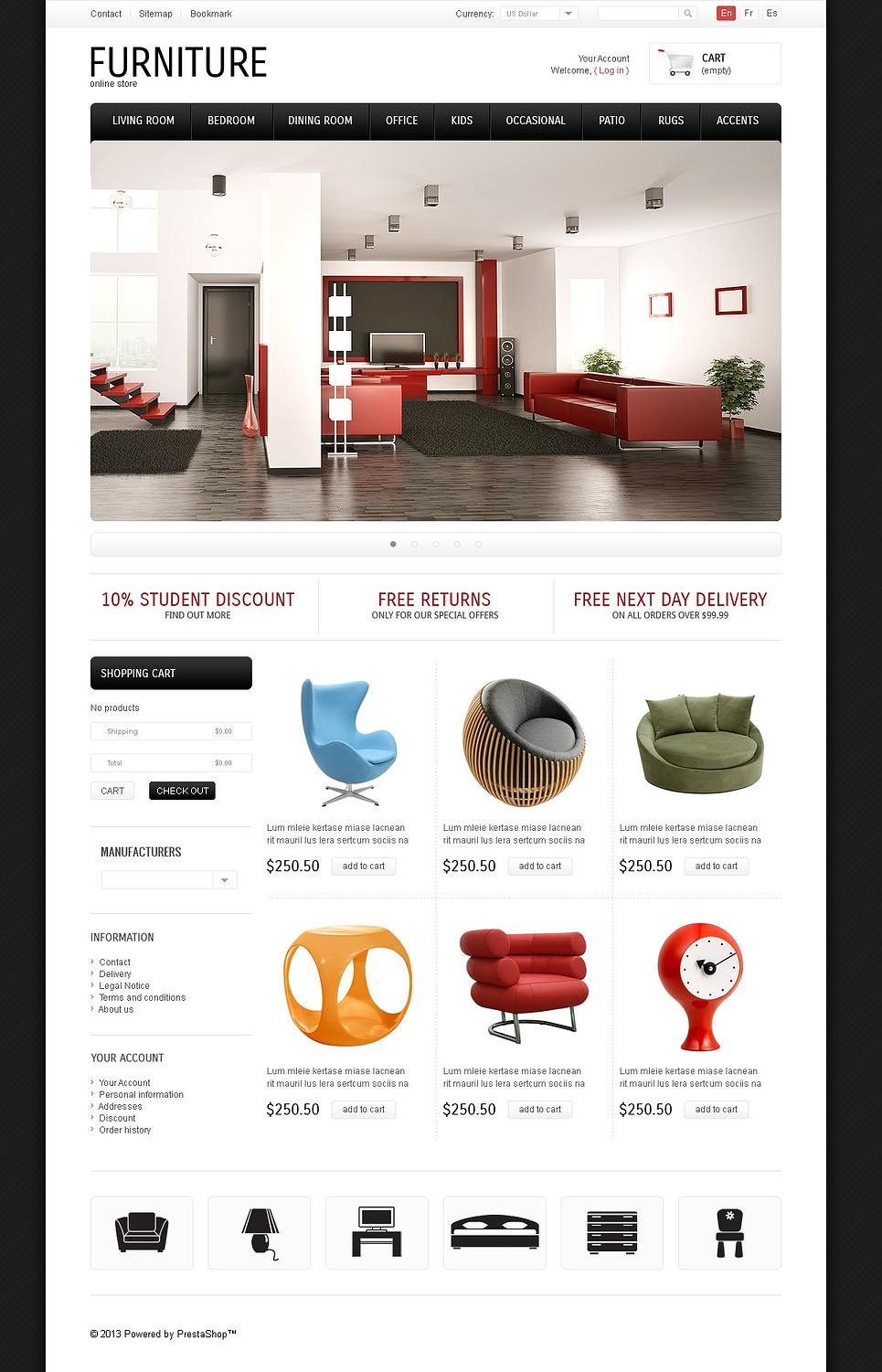 Classic & Modern Furniture Store (ecommerce PrestaShop theme) Item Picture