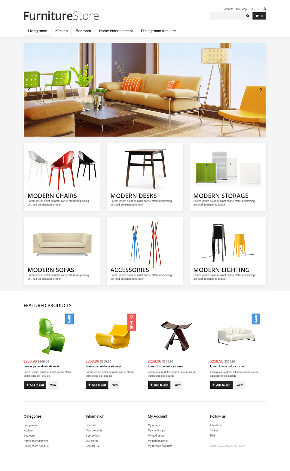 Clean Furniture Store (ecommerce PrestaShop theme) Item Picture