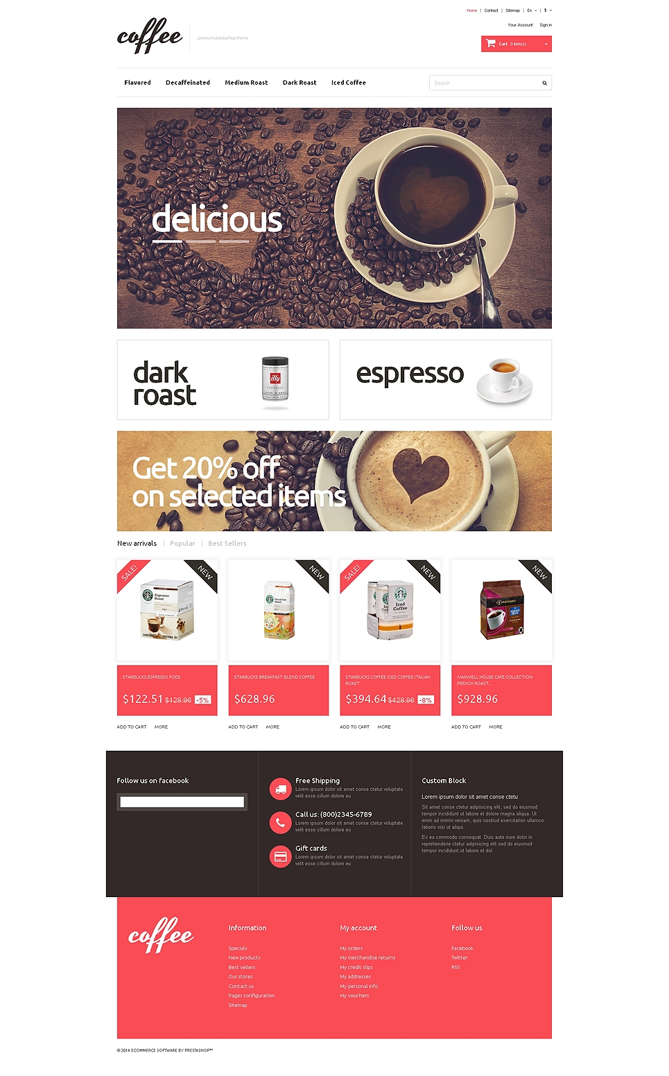 Coffee Maniacs (template for PrestaShop) Item Picture