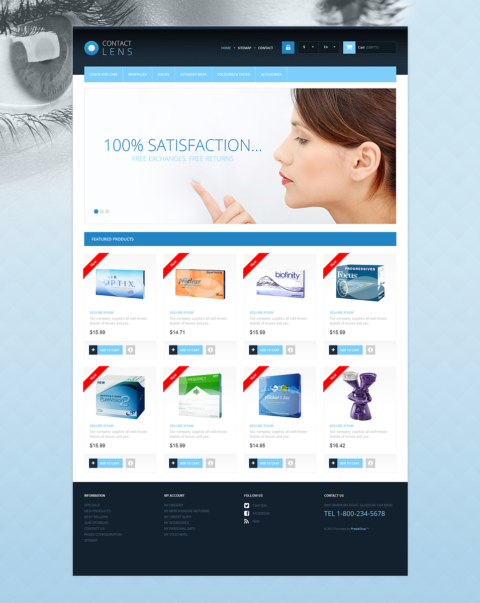 Contact Lens Store (ecommerce theme for PrestaShop) Item Picture