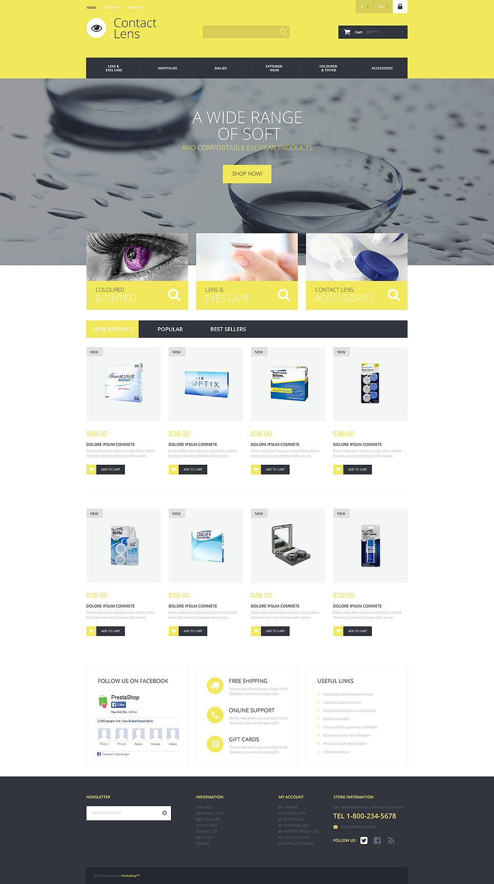 Contact Lens Technology Store (ecommerce theme for PrestaShop) Item Picture