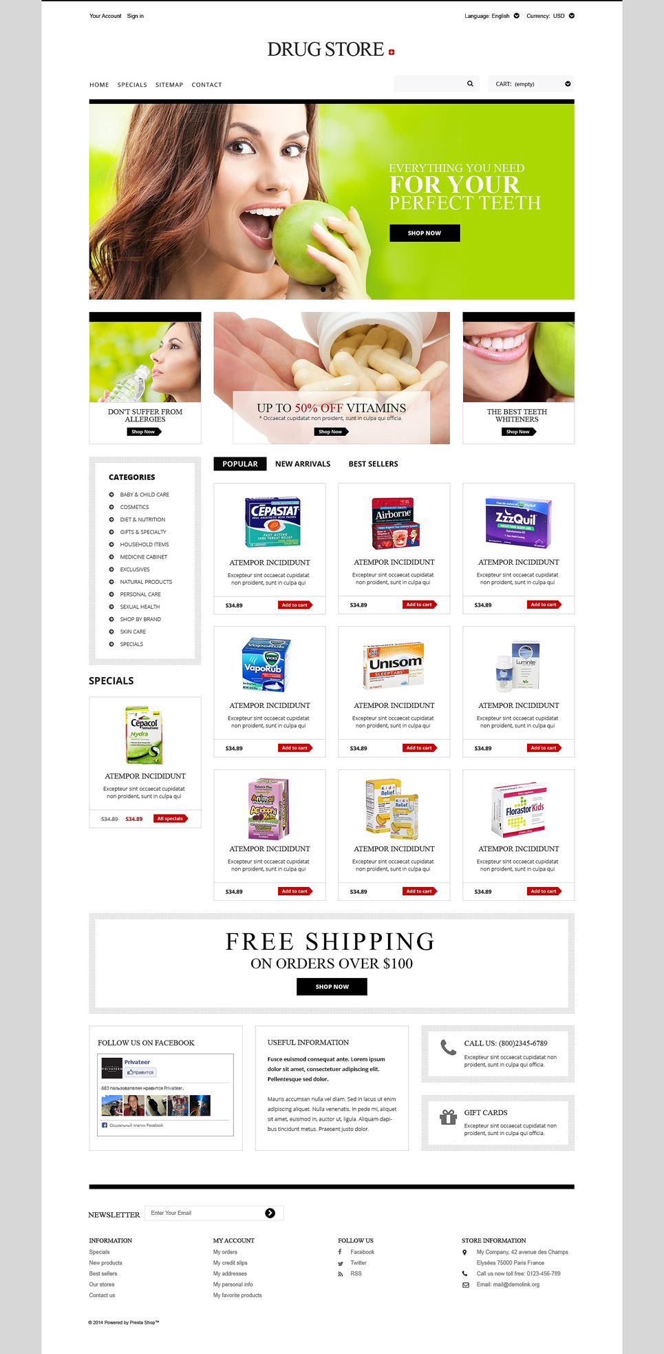 Drug Store (template for PrestaShop) Item Picture