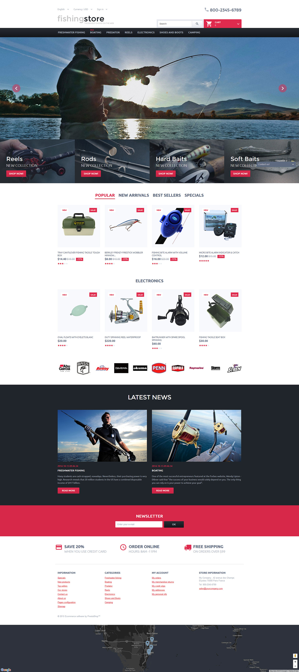 Stop Touching My Tackle (ecommerce template for PrestaShop ) Item Picture