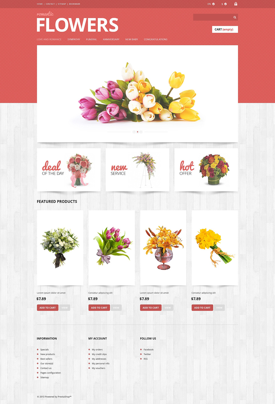 Flowers Shop (ecommerce PrestaShop template) Item Picture