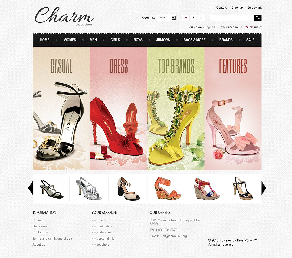 Charm (ecommerce template for PrestaShop ) Item Picture