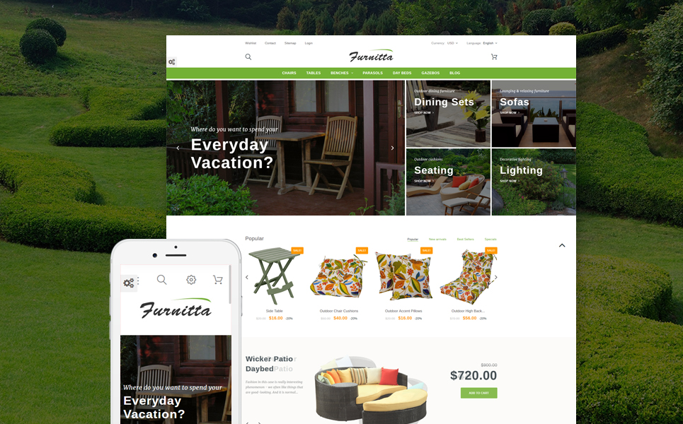 Furnitta (ecommerce PrestaShop theme) Item Picture