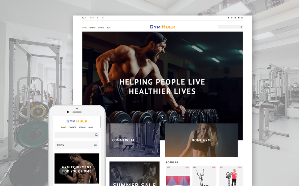 GymHulk (ecommerce template for PrestaShop ) Item Picture