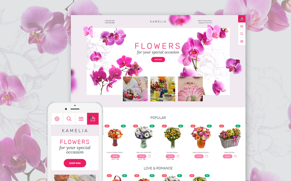 Kamelia (ecommerce PrestaShop template) Item Picture