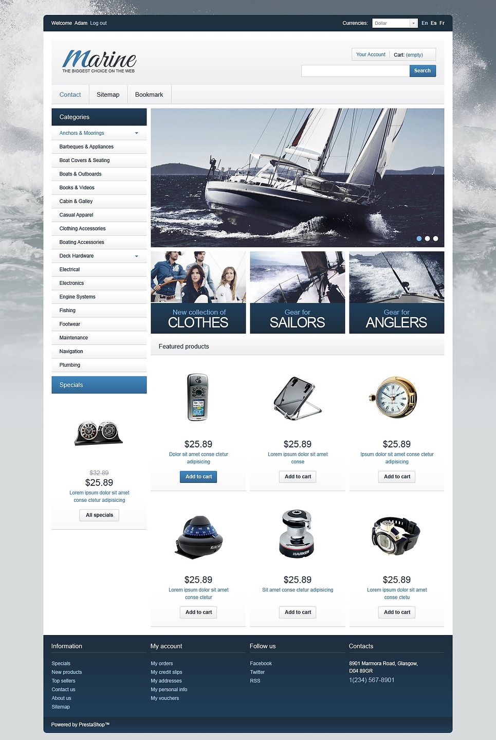 Marine Equipment Shop