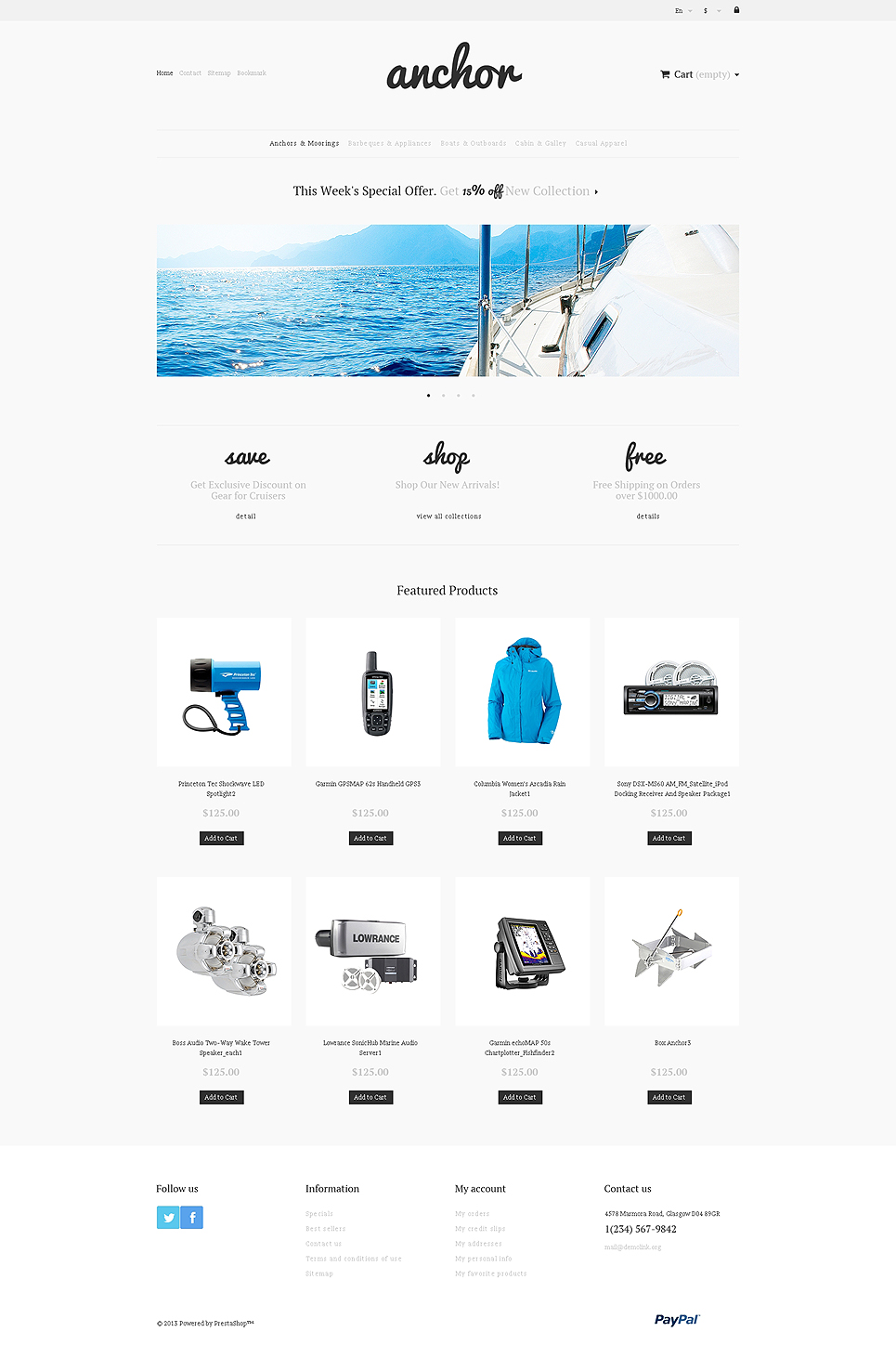 Anchor (PrestaShop template) Item Picture