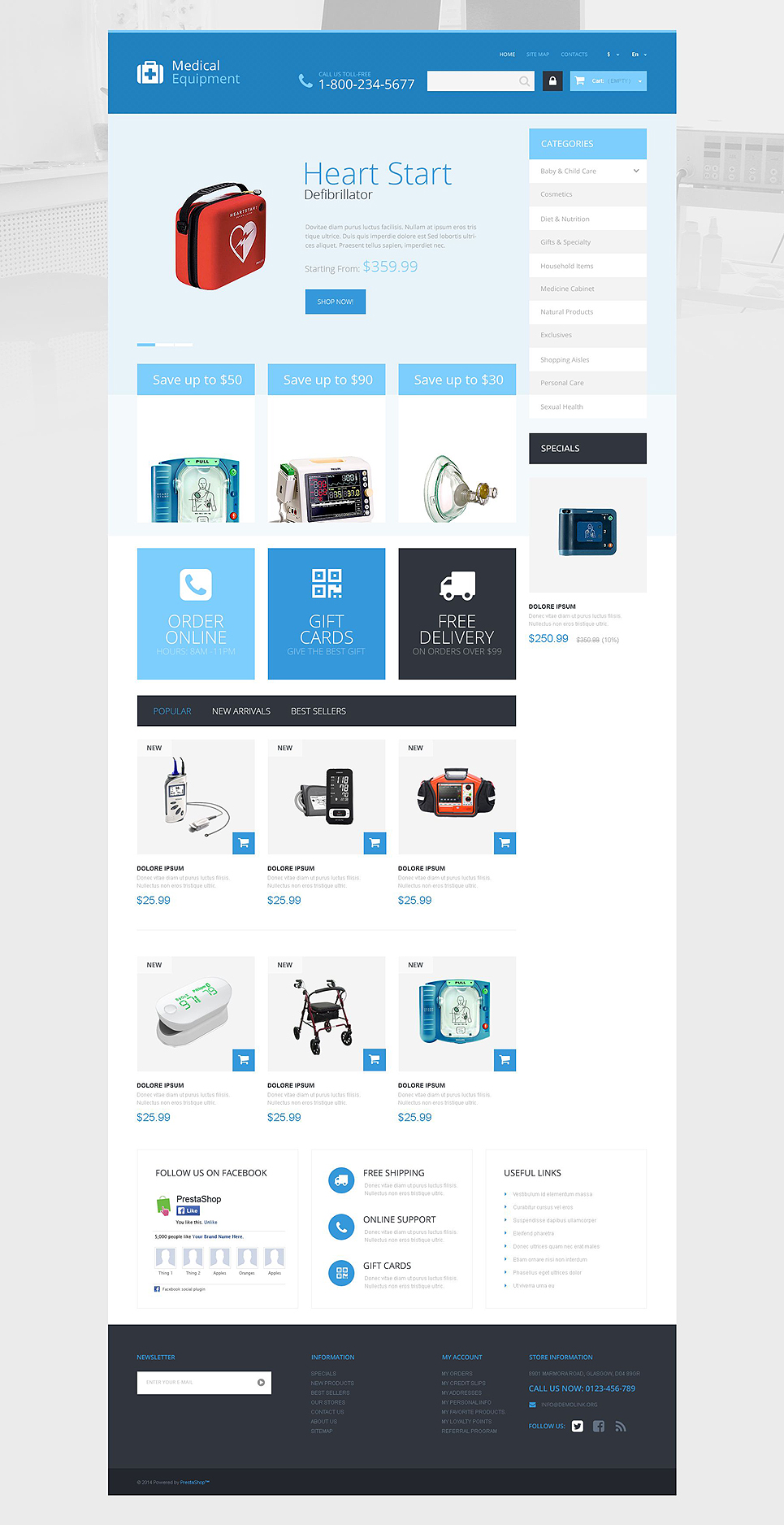 Medical Care Store (ecommerce PrestaShop theme) Item Picture