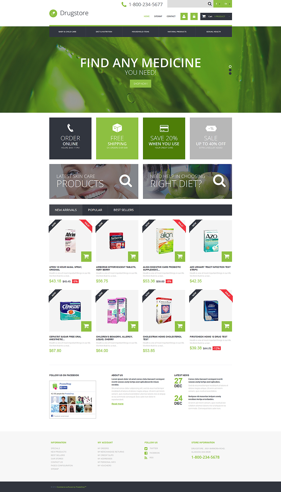 Medical Ecommerce Business (template for PrestaShop) Item Picture