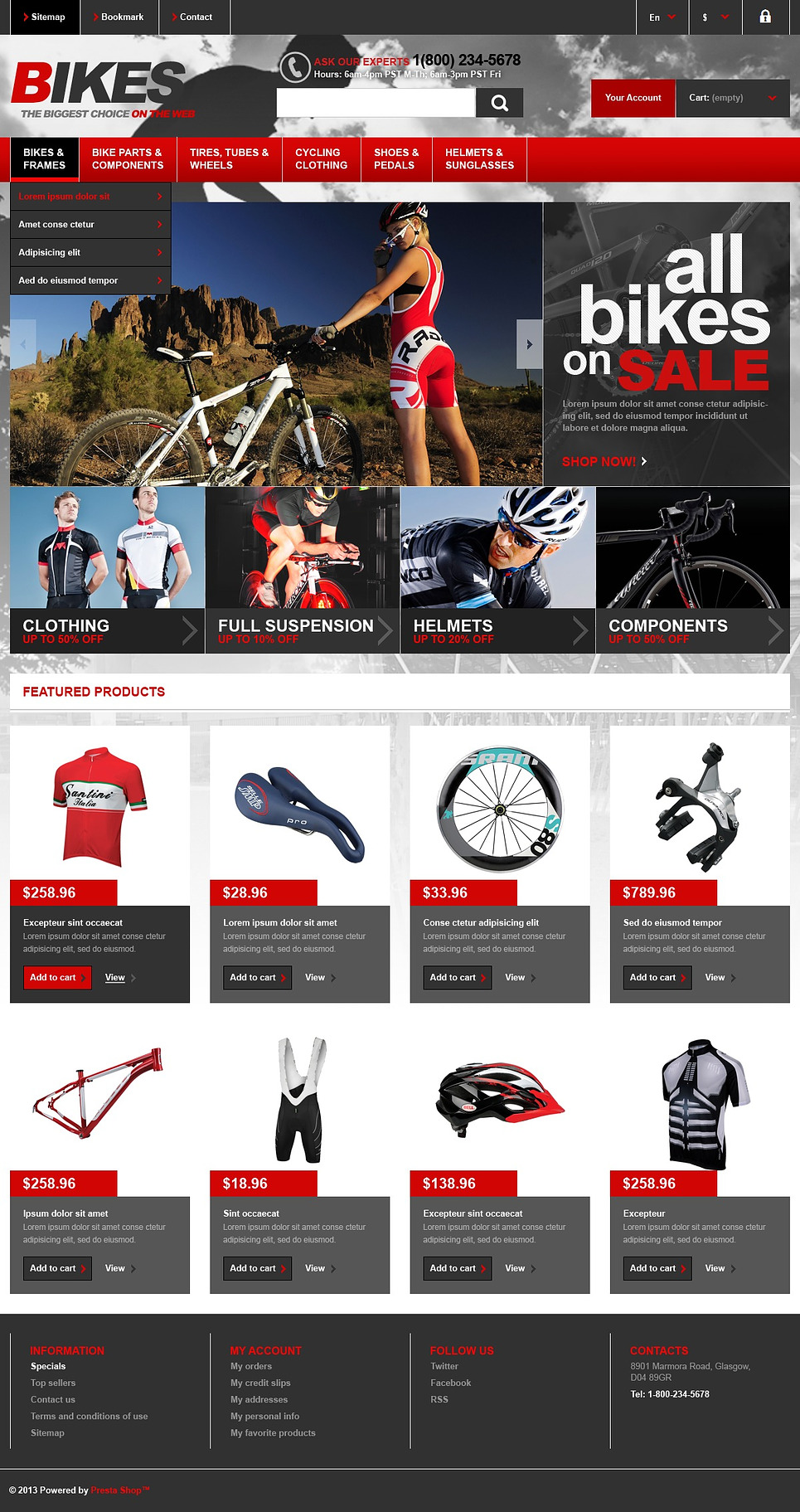 Responsive Bikes Store (template for PrestaShop) Item Picture