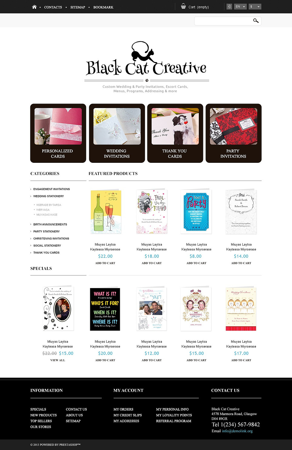 Responsive Cards Store (ecommerce template for PrestaShop ) Item Picture