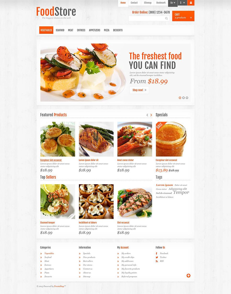 Responsive Food Store (ecommerce theme for PrestaShop) Item Picture