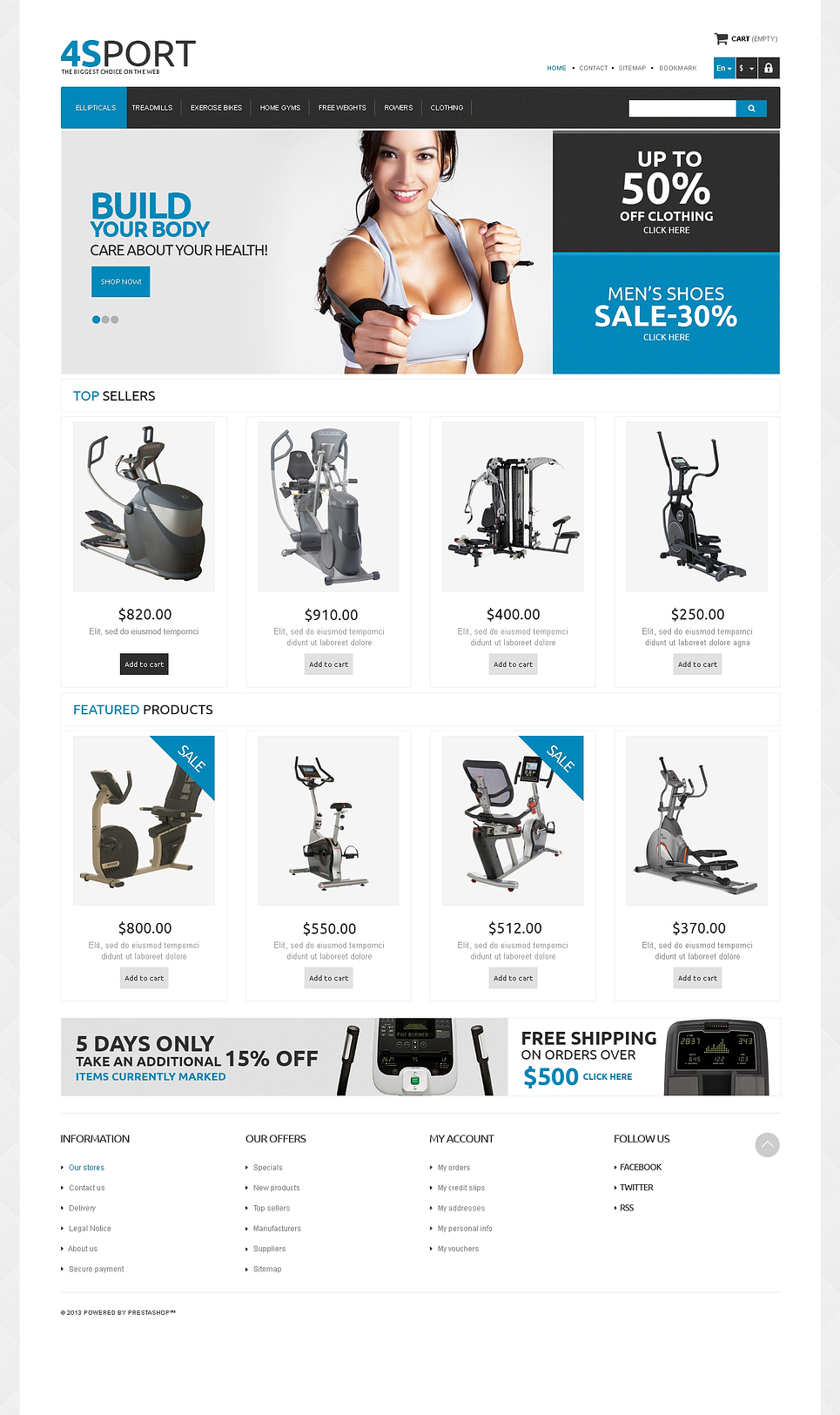 Responsive Sport Store (ecommerce template for PrestaShop ) Item Picture