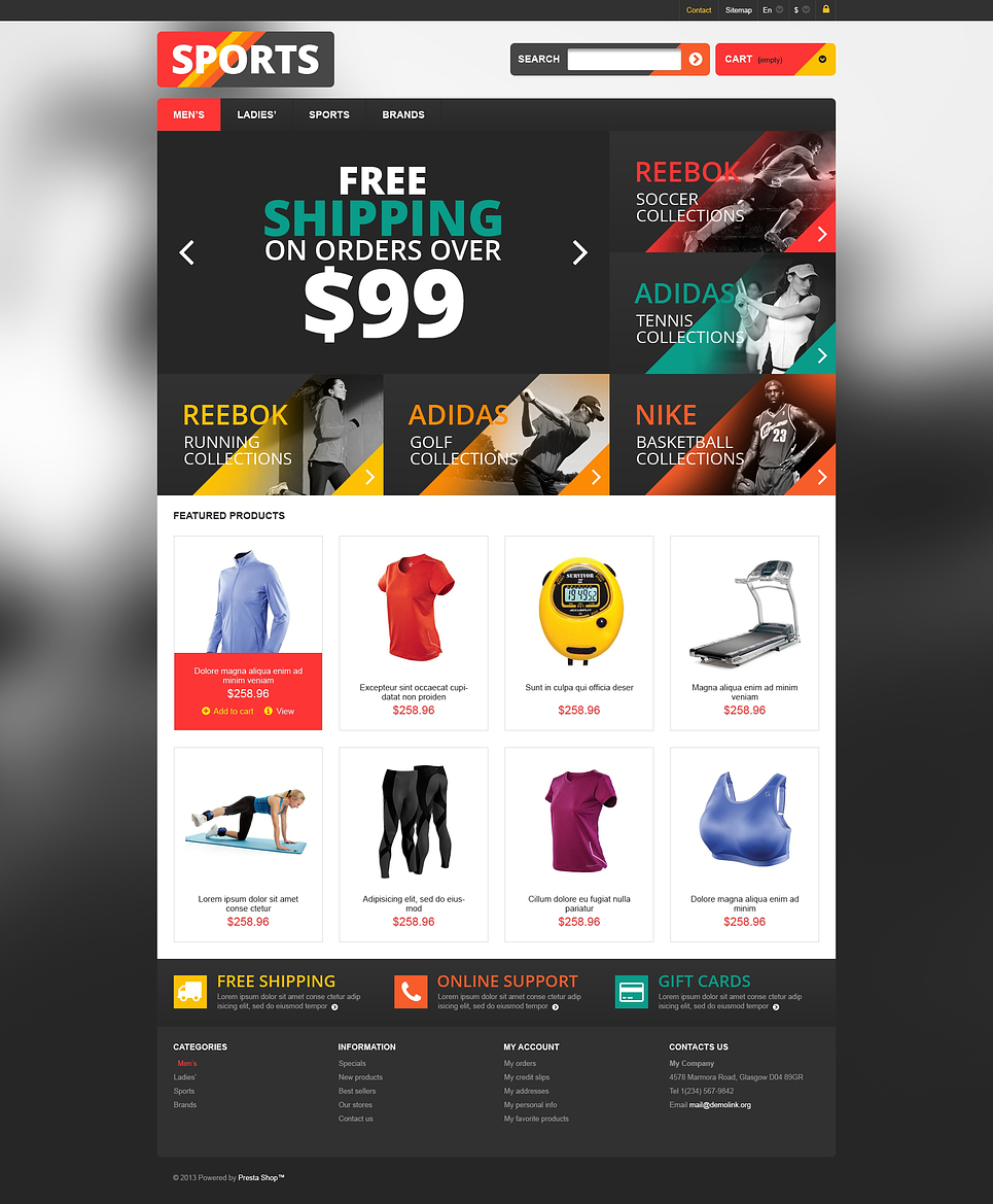 Responsive Sports Store (theme for PrestaShop) Item Picture