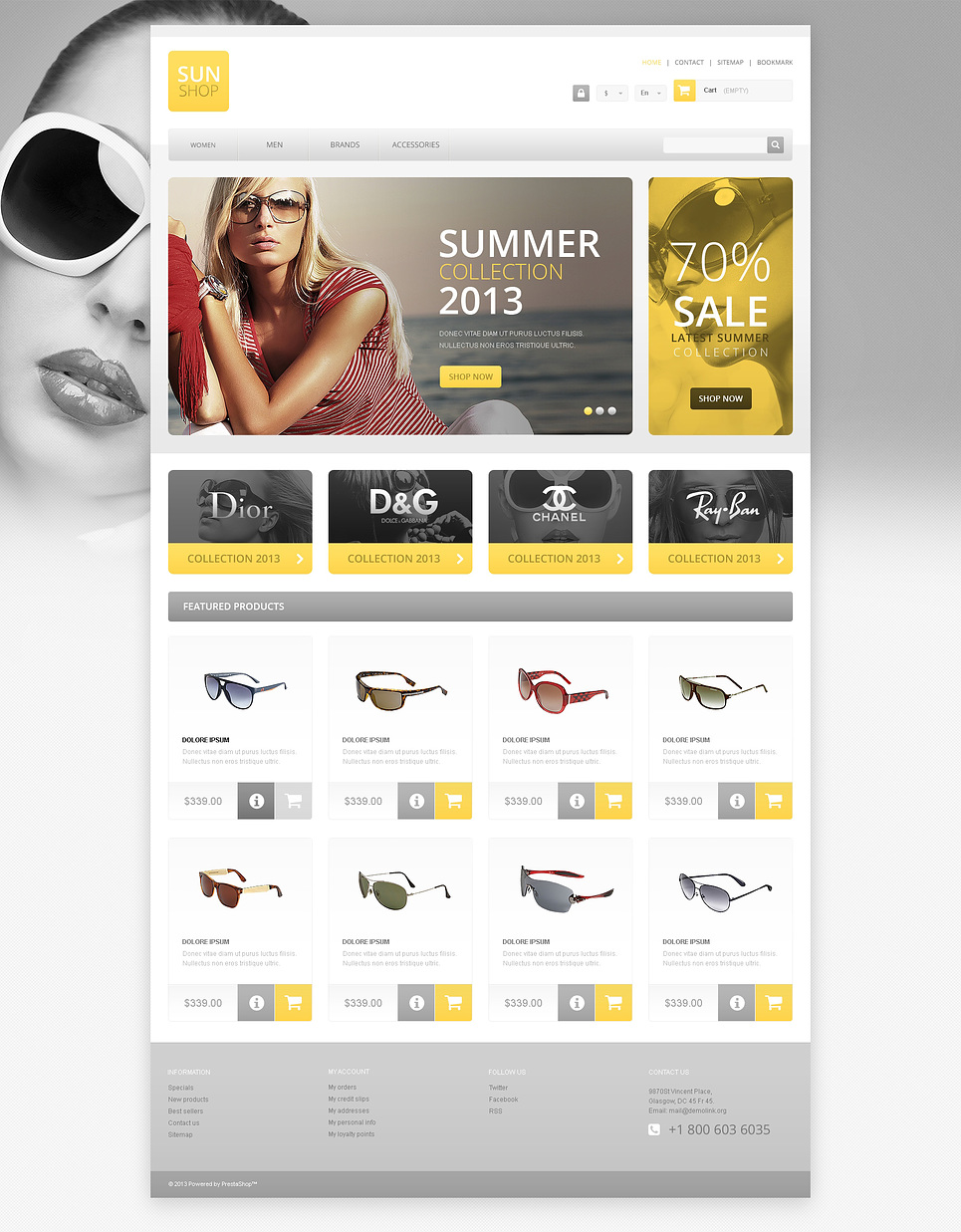 Responsive Sun Shop (template for PrestaShop) Item Picture