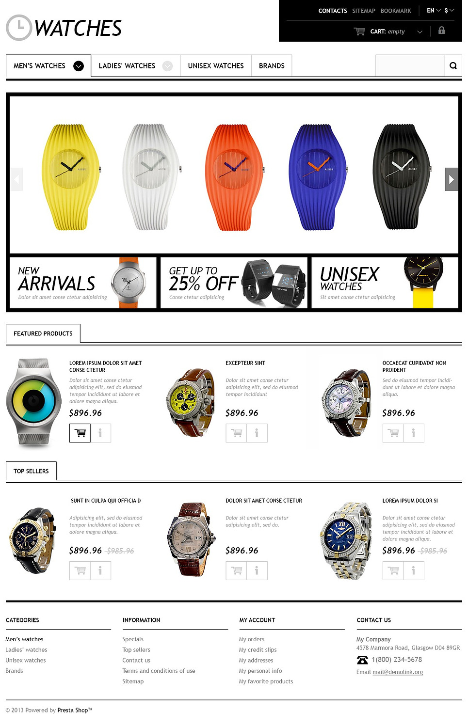 Responsive Watches Store
