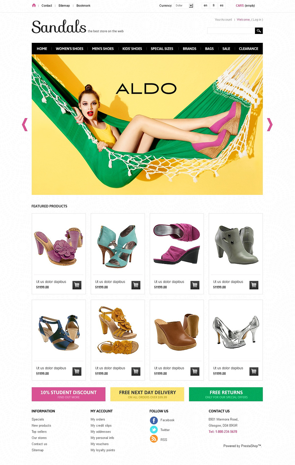 Sandals Store (ecommerce template for PrestaShop ) Item Picture
