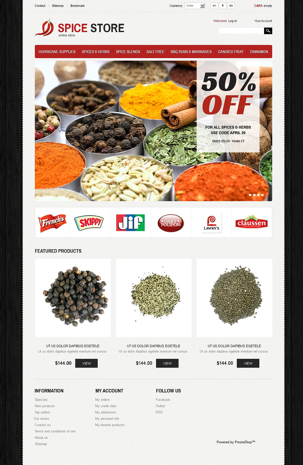 Spice Store (template for PrestaShop) Item Picture